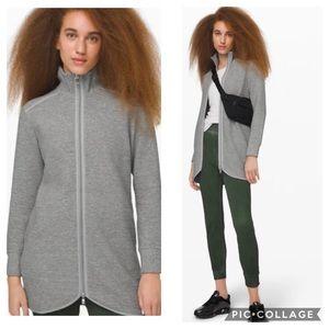 Lululemon On Repeat Jacket Heathered Core Lt Grey